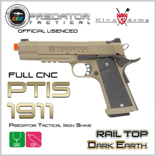 [킹암스] Predator Tactical Iron Shike 1911 Rail Top - DE