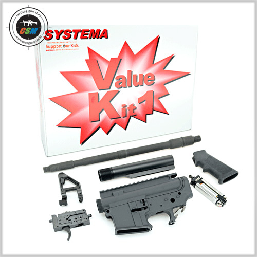 Systema PTW M4-A1 Value Kit 1 (Included Ambidextrouse Gear Box) Upgrade Kit [M90 & M150 Cylinder선택]